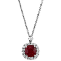 18K_White_Gold_Cushion_Ruby_and_Round_Diamond_Pendant