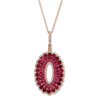 14K_Rose_Gold_Ruby_and_Diamond_Oval_Pendant,_16""