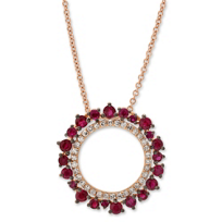 14K_Rose_Gold_Round_Ruby_and_Round_Diamond_Circle_Pendant