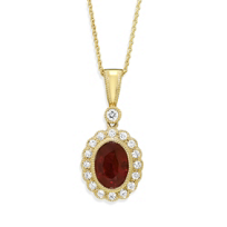18K_Yellow_Gold_Oval_Ruby_and_Round_Diamond_Pendant