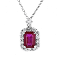 18k_white_gold_emerald_cut_ruby_&_diamond_halo_pendant
