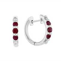14k_white_gold_ruby_&_diamond_hinged_hoop_earrings