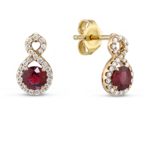 14K_Yellow_Gold_Ruby_and_Diamond_Earrings