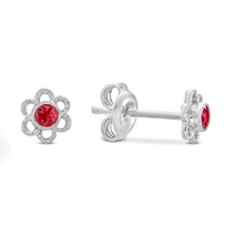 Sterling_Silver_Child's_Synthetic_Ruby_Flower_Earrings