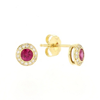 18k_yellow_gold_round_ruby_&_diamond_pave_halo_earrings