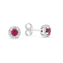14K_White_Gold_Ruby_and_Diamond_Cluster_Post_Earrings