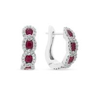 14k_white_gold_ruby_&_diamond_chain_hoop_earrings
