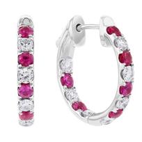 14k_white_gold_ruby_&_diamond_inside_out_hoop_earrings