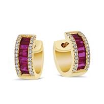 14k_yellow_gold_pave_diamond_and_baguette_ruby_petite_huggy_hoop_earrings
