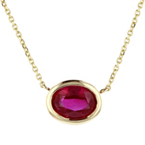 14k_yellow_gold_oval_ruby_bezel_set_necklace,_18""
