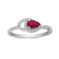 14K_White_Gold_Pear_Shape_Ruby_and_Round_Diamond_Ring