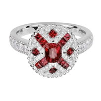14K_White_Gold_Oval_&_Princess_Ruby_&_Diamond_Ring,_0.39cttw