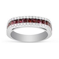 14K_White_Gold_Three_Row_Ruby_and_Diamond_Ring