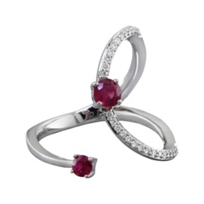 14K_White_Gold_Diamond_&_Ruby_Curved_Cuff_Ring_____________