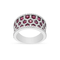 14k_white_gold_ruby_&_diamond_honeycomb_3_row_ring