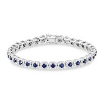 14K_White_Gold_Round_Sapphire_&_Diamond_Bracelet