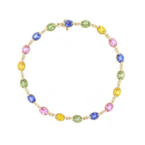 14k_yellow_gold_multicolor_sapphire_milgrain_bracelet