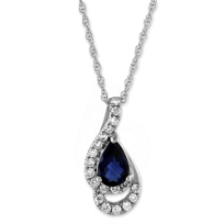 14K_White_Gold_Pear_Shape_Blue_Sapphire_and_Round_Diamond_Pendant