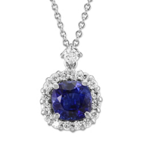 18K_White_Gold_Round_Sapphire_and_Round_Diamond_Pendant