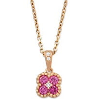 14K_Rose_Gold_Pink_Sapphire_and_Round_Diamond_Cluster_Pendant