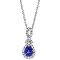 14K_White_Gold_Pear_Shape_Sapphire_and_Round_Diamond_Pendant