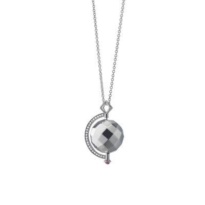 "Monica Rich Kosann Sterling Silver Passion Mars Pendant, 30"""
