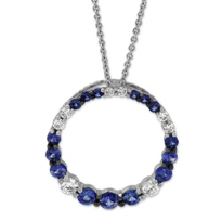 14K_White_Gold_Sapphire_and_Diamond_Circle_Pendant
