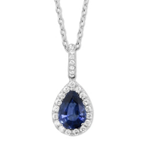 18K_White_Gold_Pear_Shape_Sapphire_and_Round_Diamond_Pendant