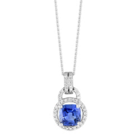 18K_White_Gold_Cushion_Sapphire_and_Round_Diamond_Halo_Pendant