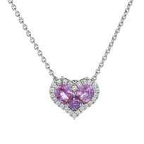 "18k_white_gold_pink_sapphire_heart_pendant_with_diamond_halo,_17"""