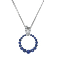 14k_white_gold_sapphire_and_diamond_graduated_open_circle_pendant,_18""