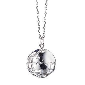 monica rich kosann sterling silver white sapphire set in omaha globe pendant