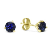 14K_Yellow_Gold_Round_Sapphire_Stud_Earrings,_5mm