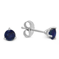 14K_White_Gold_Round_Sapphire_Stud_Earrings,_4mm