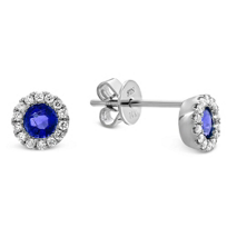 14K_White_Gold_Round_Sapphire_and_Round_Diamond_Earrings