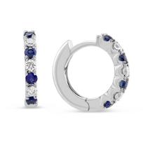 14K_White_Gold_Sapphire_and_Diamond_Hoop_Earrings