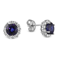 18K_White_Gold_Round_Sapphire_and_Round_Diamond_Halo_Earrings