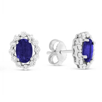 14K_White_Gold_Oval_Sapphire_and_Round_Diamond_Earrings