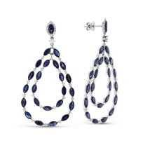 18K_White_Gold_Marquise_Sapphire_and_Round_Diamond_Drop_Earrings