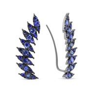 18K_White_Gold_and_Black_Rhodium_Sapphire_Curved_Climber_Earrings