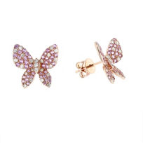 14k_rose_gold_pink_sapphire_&_diamond_butterfly_post_earrings