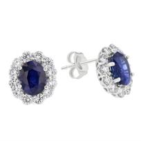 18k_white_gold_oval_sapphire_&_diamond_frame_post_earrings
