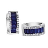 14k_white_gold_pave_diamond_and_baguette_sapphire_petite_huggy_hoop_earrings