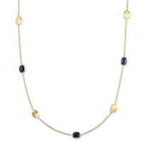 Marco_Bicego_18K_Yellow_Gold_Siviglia_Sapphire_Necklace,_16.5""
