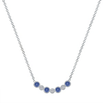 "14k_white_gold_round_sapphire_&_diamond_bezel_set_necklace,_16"""