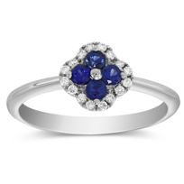 14K_White_Gold_Sapphire_and_Diamond_Flower_Ring