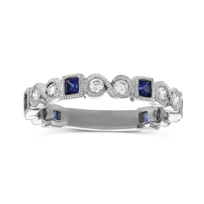14K_White_Gold_Princess_Sapphire_and_Round_Diamond_Ring