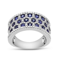 14K_White_Gold_Sapphire_and_Round_Diamond_Honeycomb_Ring