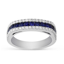 14K_White_Gold_Three_Row_Sapphire_and_Diamond_Ring