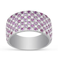 14K_White_Gold_Pink_Sapphire_and_Round_Diamond_Seven_Row_Ring